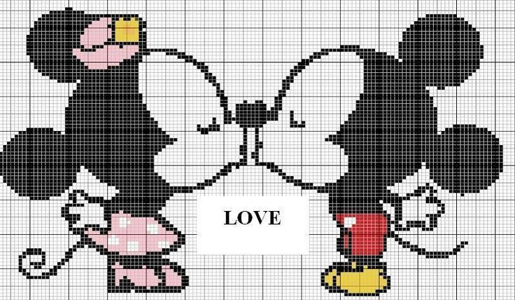 147 Best Images About Cross Stitch Mickey E Minnie Mouse