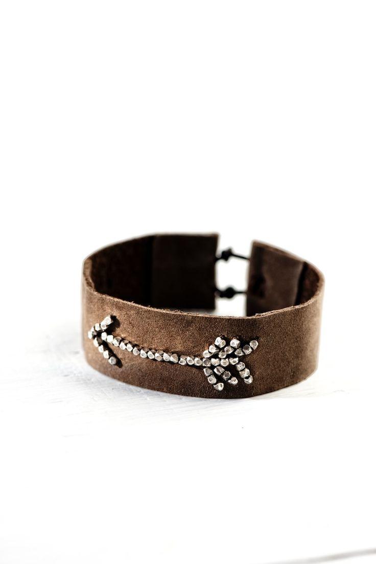 Arrow Leather Bracelet Tutorial By Lebenslustiger, Anleitung Für Ein  Lederarmband Mit Pfeilsymbol
