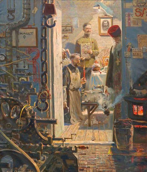 Рыженко Павел.   Пасха в Париже  (№3 из Триптиха «Русский век»)