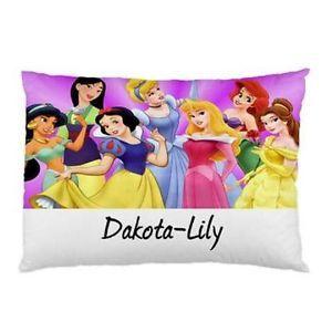 Personalised-Disney-Princesses-Pillowcase-Childrens-KidsYou-Choose-Name