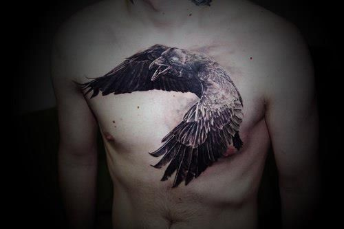 Beautiful Crow Tattoo Design!