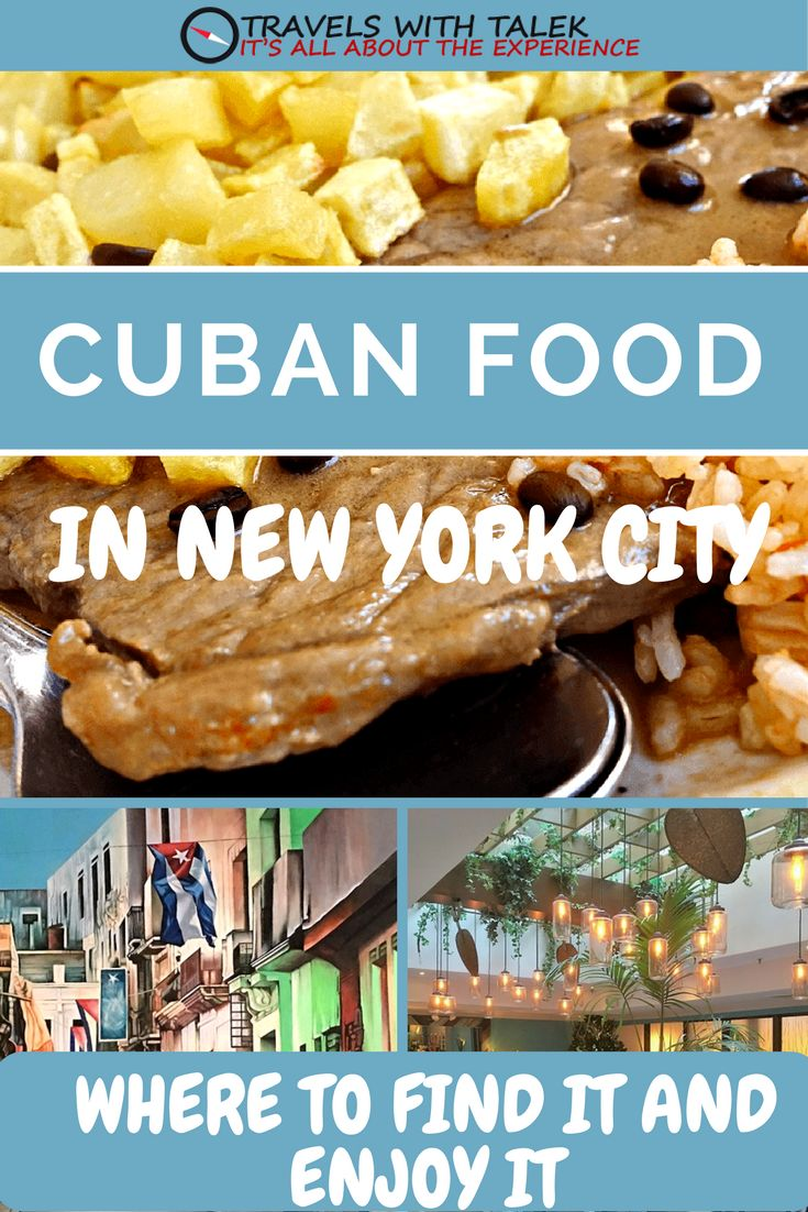 Cuban food is trendy and tasty. See where to eat it in NYC at travelswithtalek.com