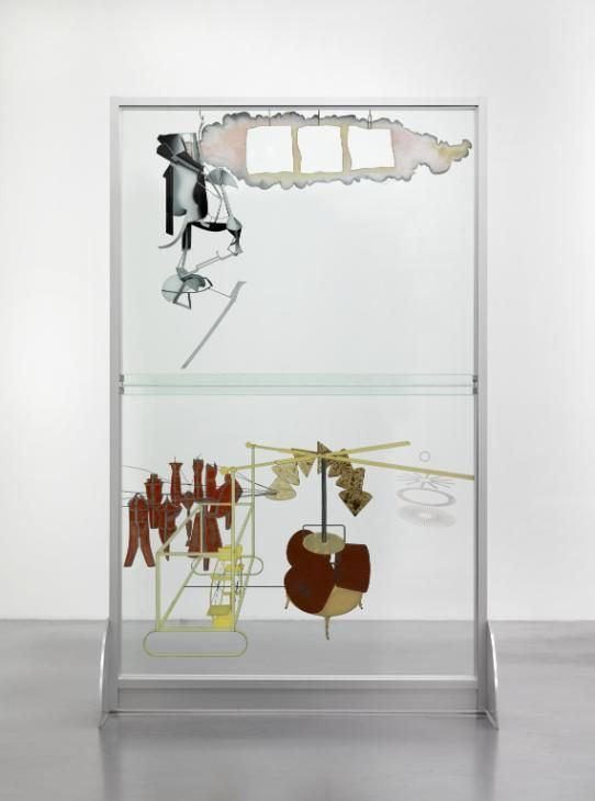 Marcel Duchamp 'The Bride Stripped Bare by her Bachelors, Even (The Large Glass)', 1915–23, reconstruction by Richard Hamilton 1965–6, lower panel remade 1985 © Richard Hamilton and Succession Marcel Duchamp/ADAGP, Paris and DACS, London 2016