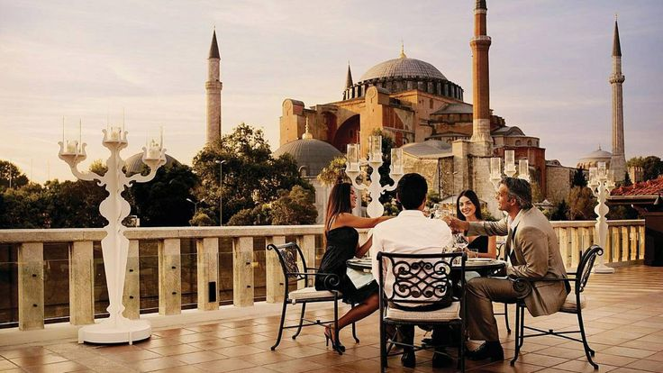 Four Seasons Hotel Istanbul at Sultanahmet, Historic Views. San Francisco to Los Angeles to Istanbul is a popular flight path.