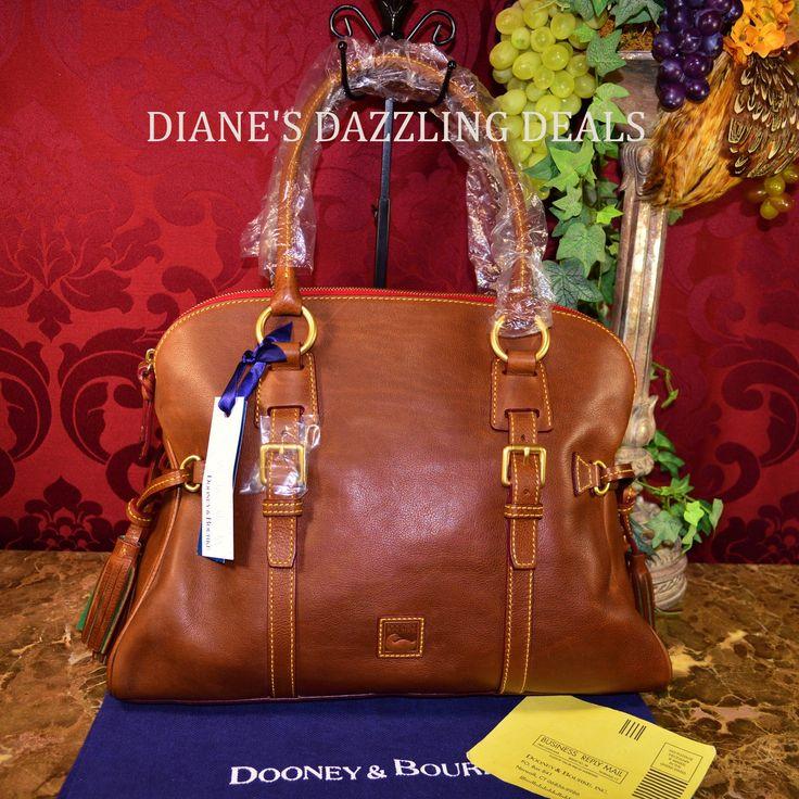 Dooney & Bourke NWT Florentine Leather Domed Buckle Satchel Purse Chestnut WOW