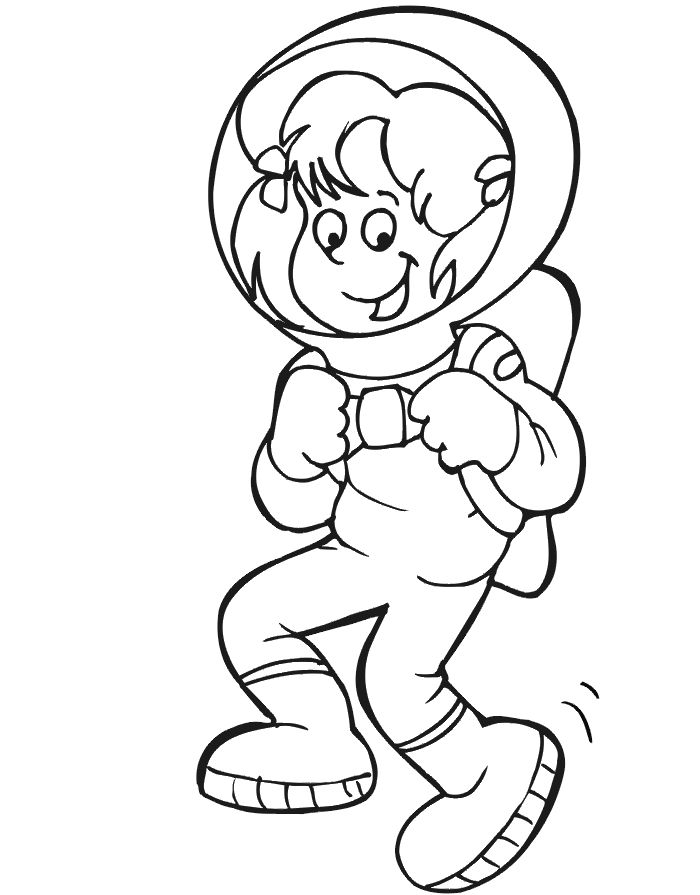 astronaut printables astronaut coloring page girl in astronaut suit