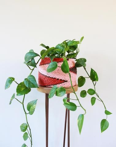 Jungalow Style – Copper and Cross. Strawberry Shortcake Planter Basket $109