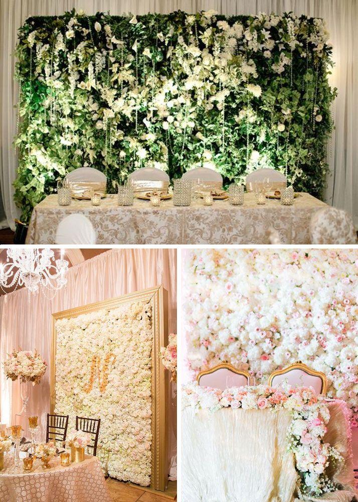 Ściana za stołem prezydialnym - Ściana z żywych kwiatów lub ziół