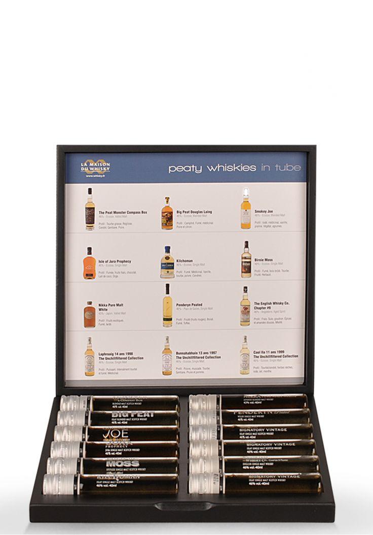 "Set degustare: ""Peaty Whisky in tube WIT"", Fine Whiskies, (12 x 4 cl) - SmartDrinks.ro"