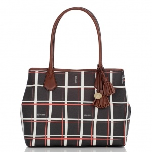 Brahmin Anytime Tote Plaid Avenue