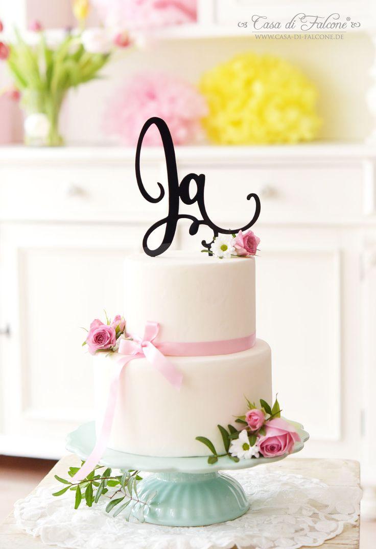 Tortenstecker aus Acryl für die Hochzeitstorte I wedding cake topper I Casa di Falcone
