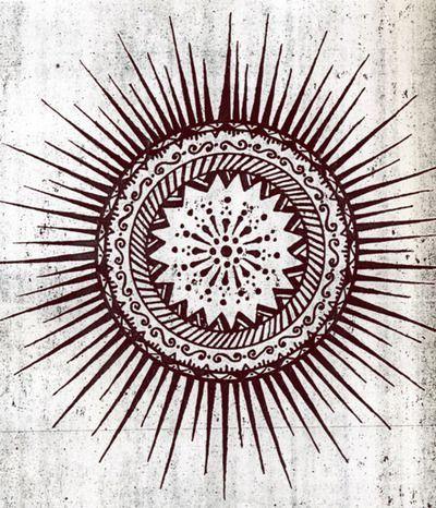 sun tattoo design