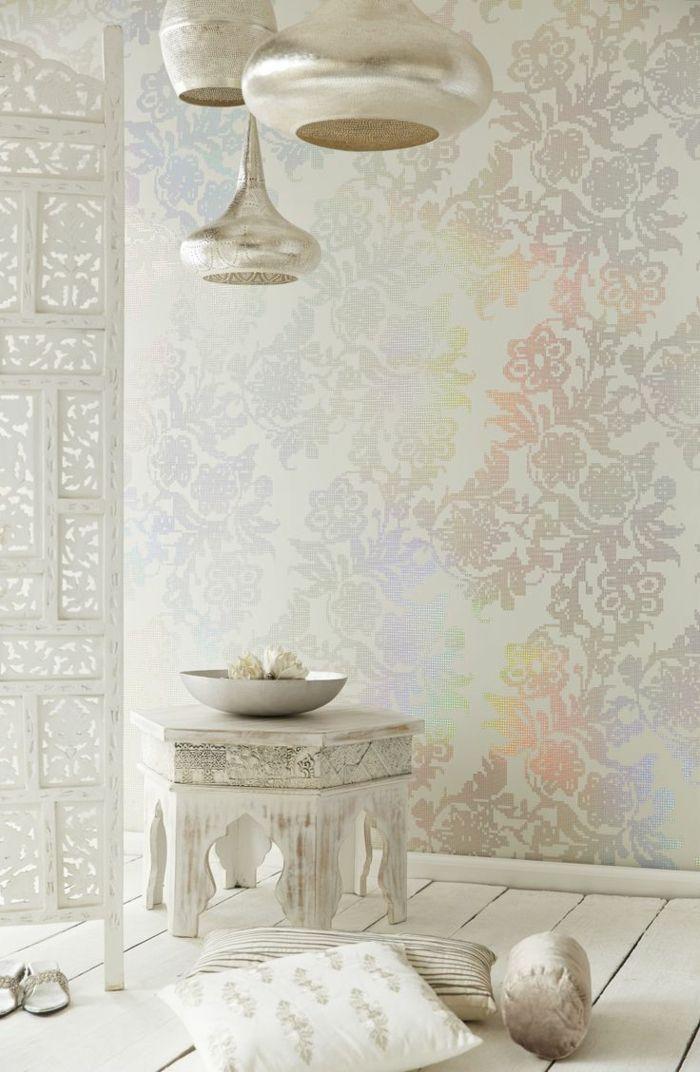 orientalische lampen in weiß