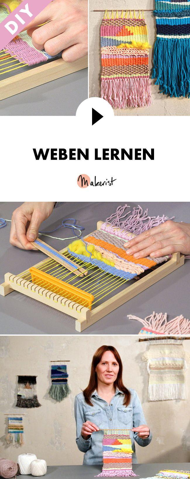 Weben lernen im Webrahmen - Schritt für Schritt erklärt im Video-Kurs via Makerist.de