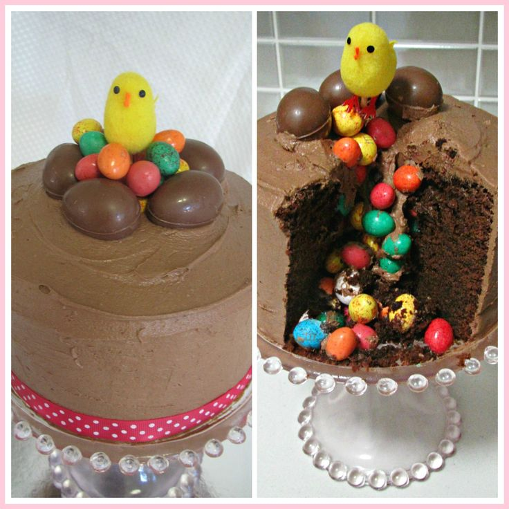 Easter Egg Chocolate Pinata Cake by The Love of Cake Blog.