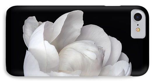 Jane Star IPhone 7 Case featuring the photograph Flower Pearl by Jane Star  #JaneStar #IPhoneCase #Peony #Flower #White