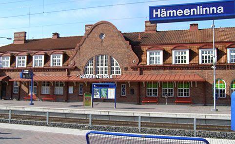Hämeenlinna railway station.