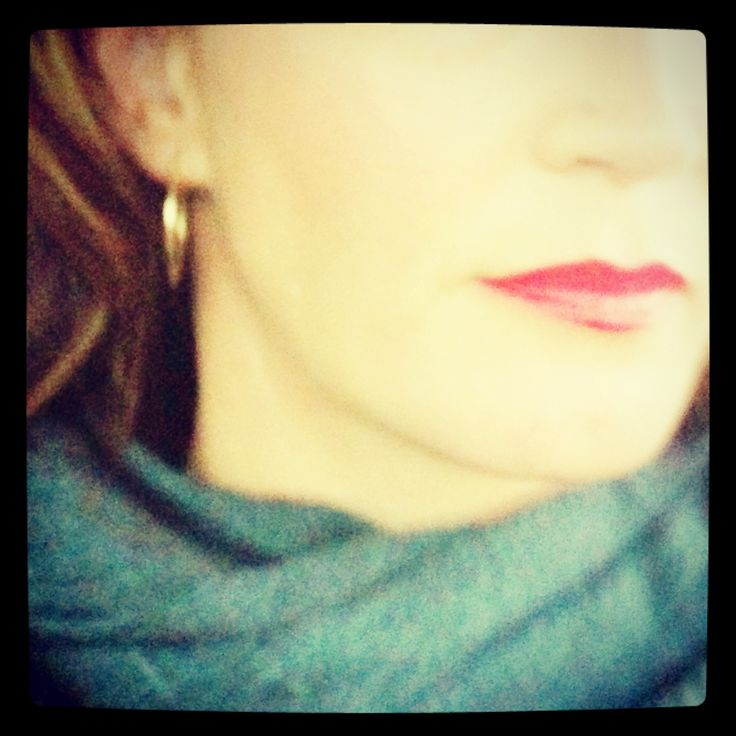 Red lips for fall.