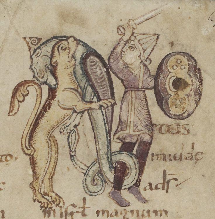 Scene from Yvain?Psautier, avec cantiques et litanies Source: gallica.bnf.fr Bibliothèques d'Amiens métropole, Ms. 18, fol. 67r.