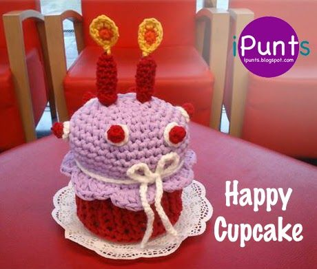 Patron De Cupcake Amigurumi : 65 best images about Comida amigurumi on Pinterest Free ...