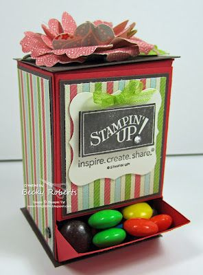 candy dispenser & pattern Stampin up