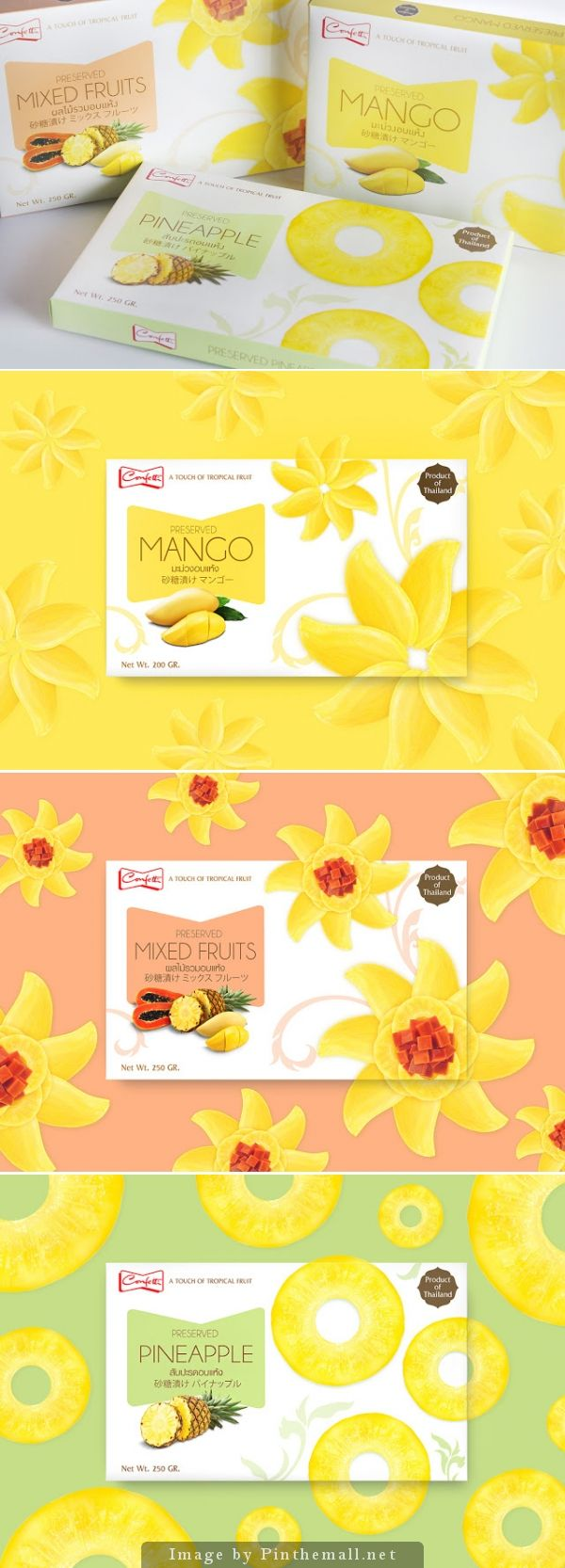 Confetti Dried Fruit Creative Agency: Prompt Design Executive Creative Director: Somchana Kangwarnjit , Prompt Design Design Director: Tiptida Treeratwattana, Prompt Design Designer: Honmaru & Mamew, Prompt Design Account Executive: Pimprae Boonmueng, Prompt Design Client: Sino-Pacific Trading (Thailand) Co., Ltd. Location: Thailand Project Type: Commercial Work