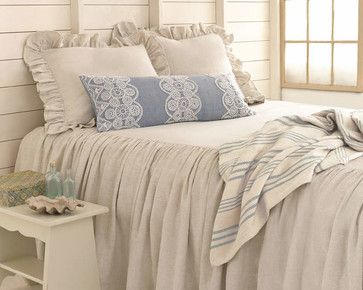 Savannah Linen Chambray Bedding - traditional - duvet covers - Pine Cone Hill