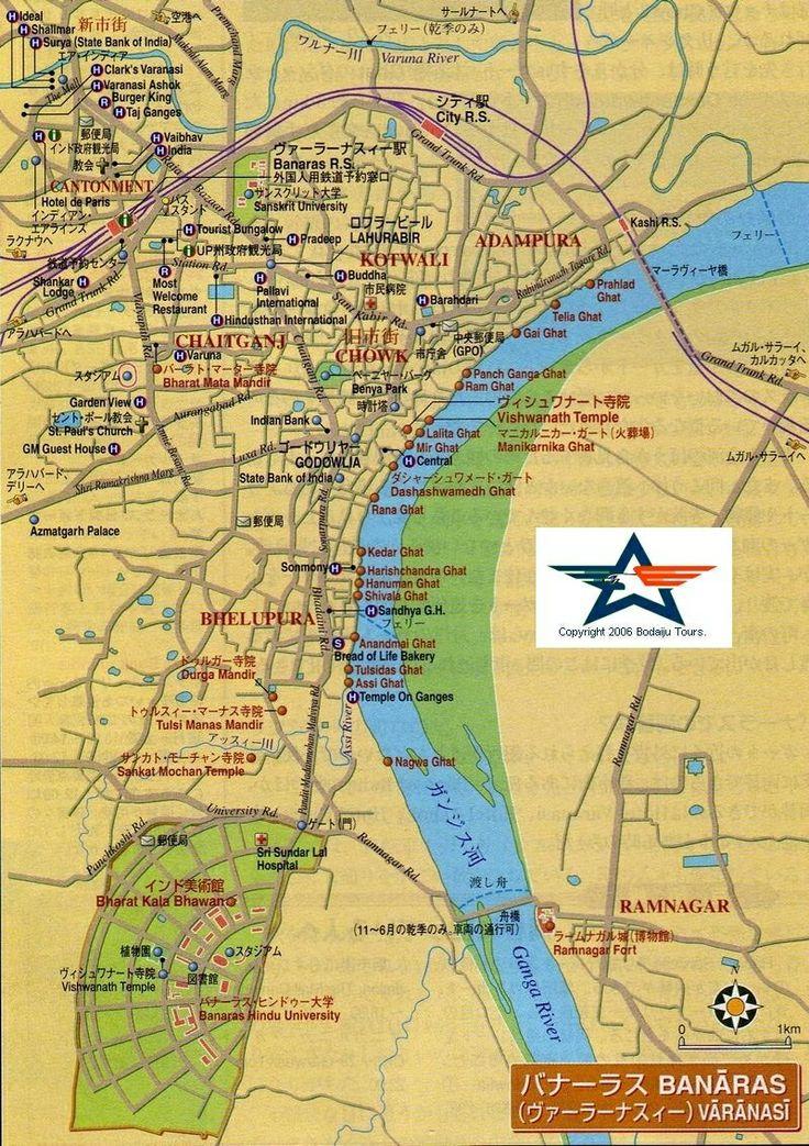 Varanasi Map Places Of Interest Pinterest Varanasi - Varanasi map