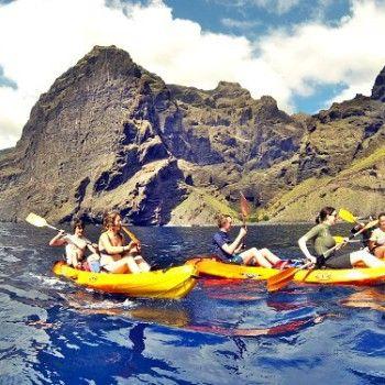 Zee kayak & canyoning Tenerife is een super avontuurlijke dag, te boeken op AdventureTickets.nl