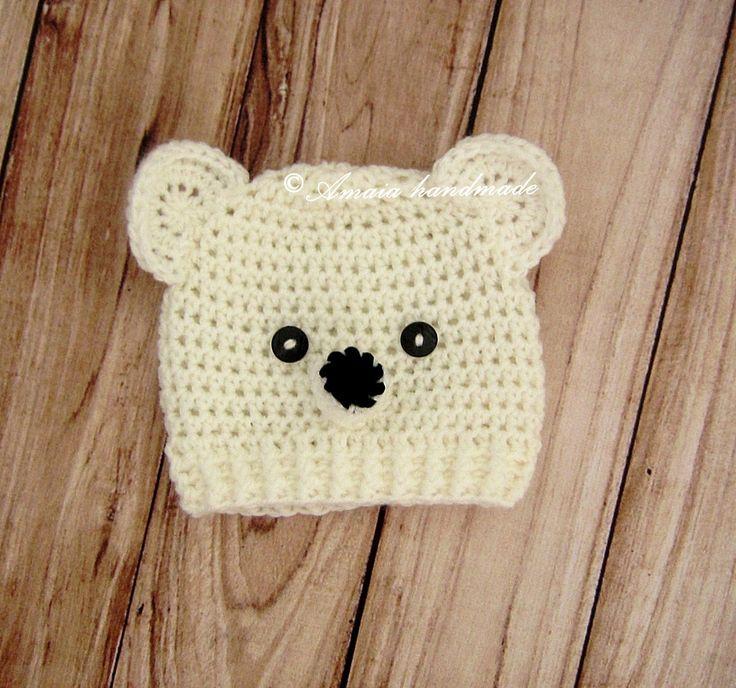 teddy bear hat, baby teddy bear hat, baby photo prop, hat photo prop, crochet animal hat, teddy bear outfit, newborn photo prop, newborn hat by Amaiahandmade on Etsy