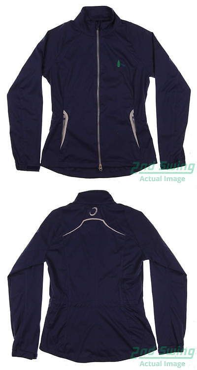 Other Womens Golf Clothing 181152: New W/ Logo Womens Zero Restriction Golf Wind Jacket Small S Navy Blue Msrp $170 -> BUY IT NOW ONLY: $62.99 on eBay!