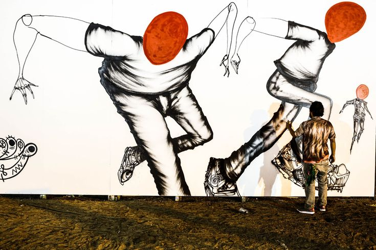 David Choe Afghanistan mural from 2013. Juxtapoz Magazine - David Choe: Afghanistan Tour Diary, the Outtakes- photography by Estevan Oriol