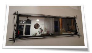 Miroirs fer forgé - Michel Daunizeau - Serrurerie - Ferronnerie d'art - Aulnay de Saintonge - 17