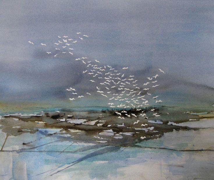 Landskaber - www.akvarelmonasloth.dk