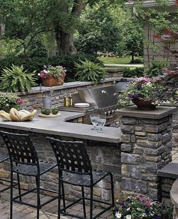 Brick Patio, outdoor kitchen would be awesome next to a fire pit or pool (while I'm dreaming)