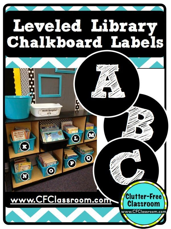 Leveled Classroom Library Labels Freebie-Chalkboard Style {Classroom Design Photos, Set Up Pictures & Ideas, Organization & Management} | Clutter-Free Classroom | Bloglovin'