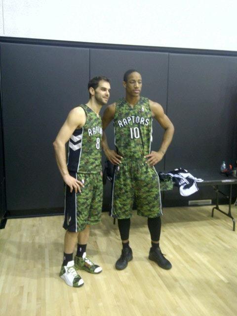 Toronto Raptor's Camouflage jerseys w/ DeMar DeRozan