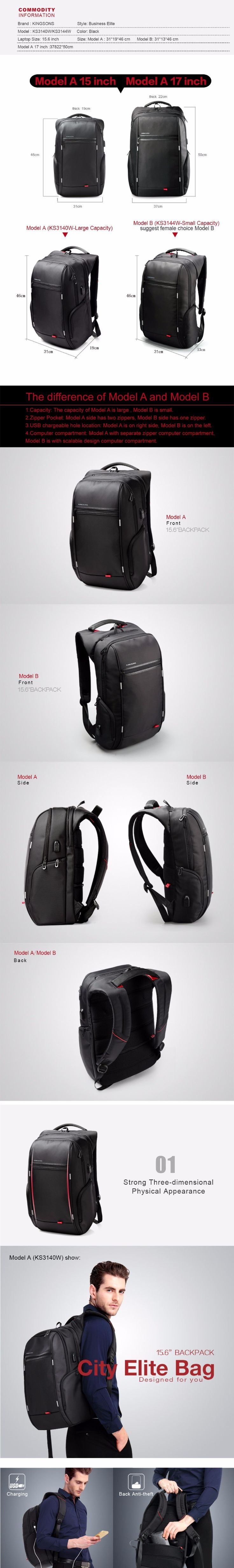 Note: There is no mobile power comes with the backpack inside.  If you want to use External USB Charge Function, you have to do as follows:  1.Buy a mobile power   2.Connect your mobile power with the USB interface inside the backpack    3.Connect your phone with the USB interface outside the...  http://www.nboempire.com/products/kingsons-brand-external-usb-charge-computer-bag-anti-theft-notebook-backpack-1517-inch-waterproof-laptop-backpack-for-men-women/