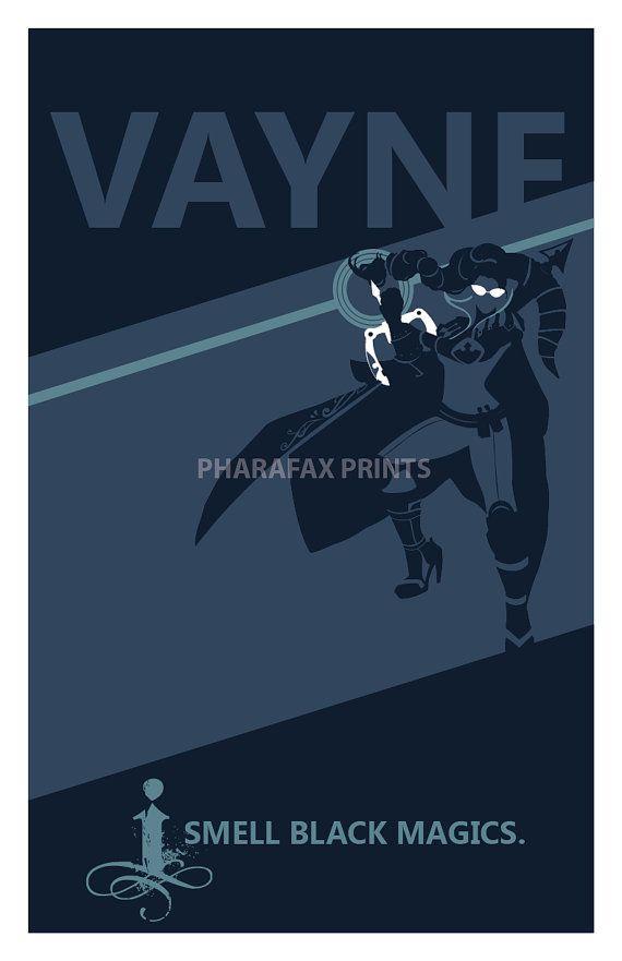Vayne: League of Legends Print by pharafax on Etsy