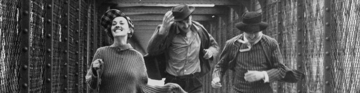 """Jules et Jim"" by François Truffaut (1962) - Jeanne Moreau, Oskar Werner & Henri Serre"