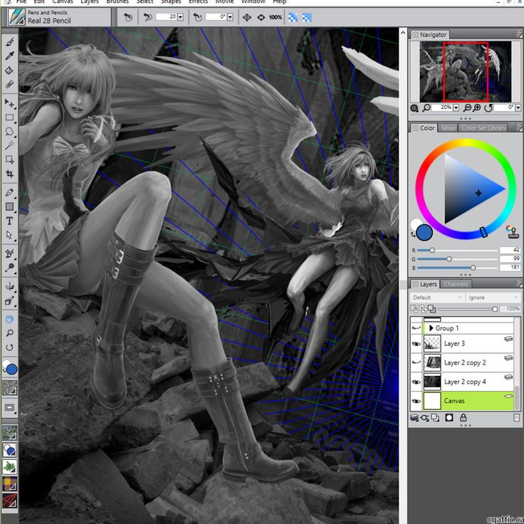 Corel Painter can be seen as a free drawing software since it is usually bundled with the software suit from any WACOM Intuos tablet purchase.