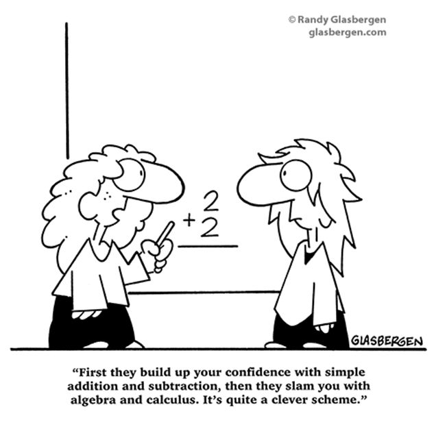 math cartoons for powerpoint | Randy Glasbergen - Today's Cartoon