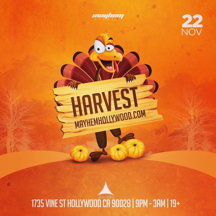 #TheHarvest2017: Wednesday November 22nd 2017 the 2nd Annual #TheHarvest - #PreThanksgiving will be making its return to #LosAngeles located at the mega-club of @avalonhollywood 19 / #ThanksgivingEve is the biggest drinking day of the year for a reason and we're on board with that so designate a driver or set up that #Lyft or #Uber account gather the coolest of your cousins siblings & friends and head on out to #AvalonHollywood for the 2nd Annual Harvest! / Prepare for some exclusive music…