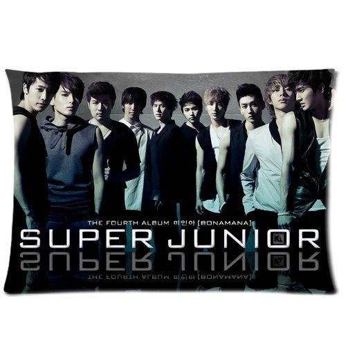 SUJU SUper JUnior The Fourth Album KPOP Korean Girl Band Custom Pillowcase Cover Two Side Picture Size 16x24 Inch ** AMAZON Great Sale