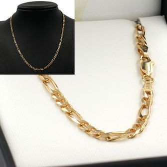 50cm Yellow Gold Figaro Chain Necklace - GN-BFD103