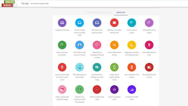 Eccellenze in digitale - Impara il marketing digitale, Google-IAB Europe, luglio 2016 https://eccellenzeindigitale.withgoogle.com/