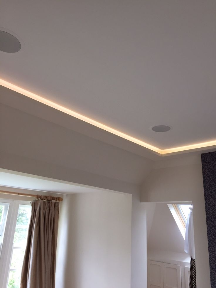 LED lighting in ceiling
