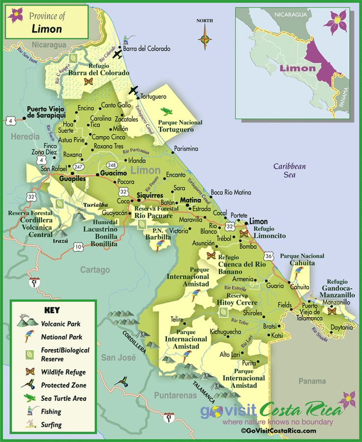 Best Costa Rica Images On Pinterest Costa Rica San Jose And - Map of costa rica