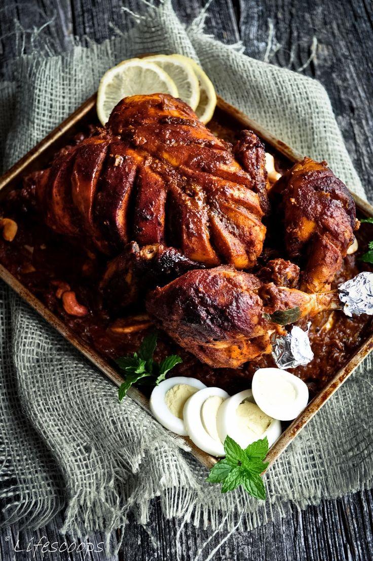 Kerala Stuffed Whole Chicken Roast In Spiced Gravy, Malabar Style Kozhi  Nirachathu, Kerala Easter