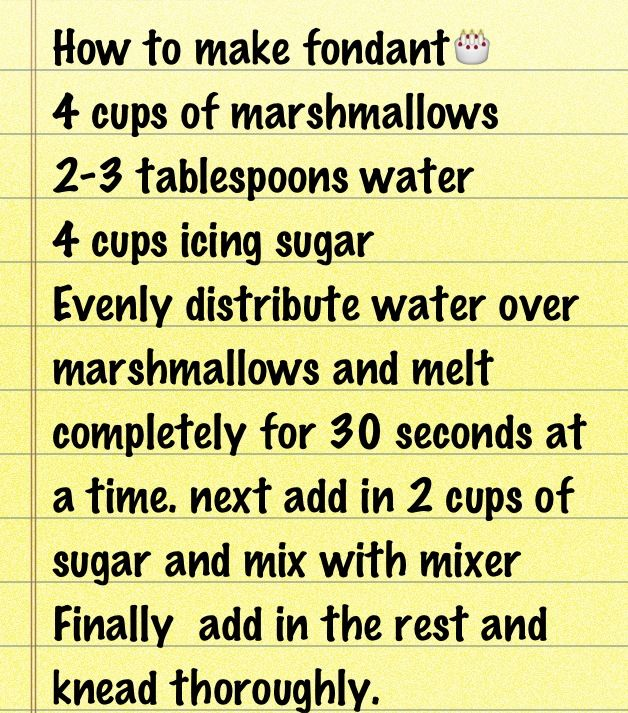 Easiest fondant recipe I found!! So simple and lasts for months!